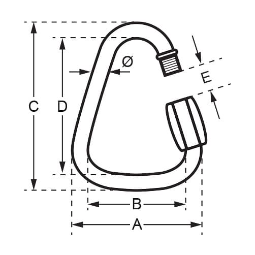 Stainless Steel Delta Quick Link - Unstamped - Diagram