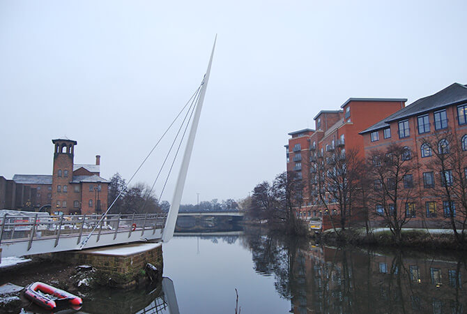 Derby Swing Bridge Balustrade Wire Installation