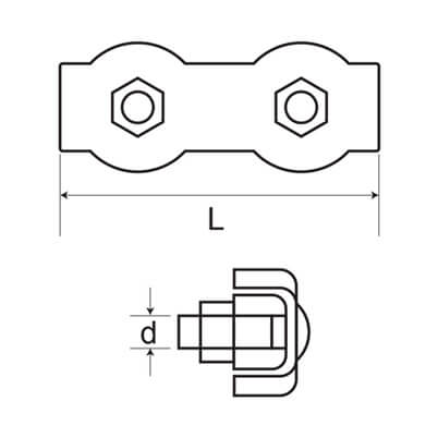 Duplex Wire Clip - Diagram