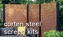 Decorative Garden Screen Starter Kits - Corten Steel