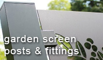 Decorative Garden Screens - Posts, Clamps and Fittings