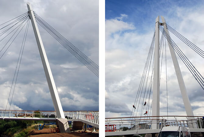 Stainless Steel Wires On The Diglis Footbridge