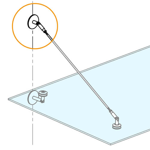 Wall Connector For Glass Door Canopy - Position
