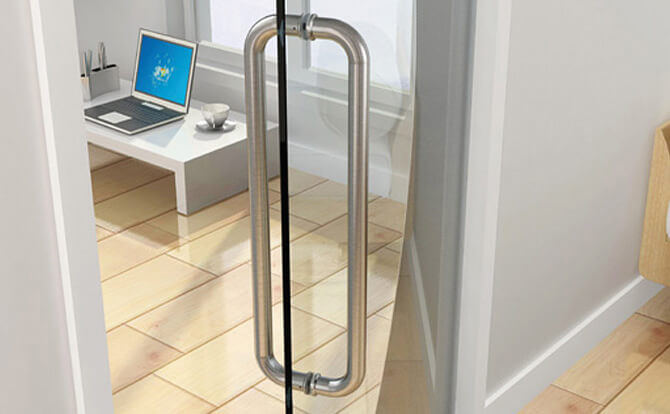 D Shaped Door Handle For Glass Doors