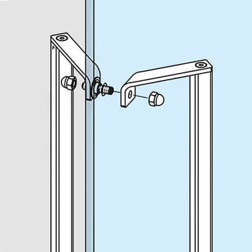 Square Profile Door Handle - Assembly