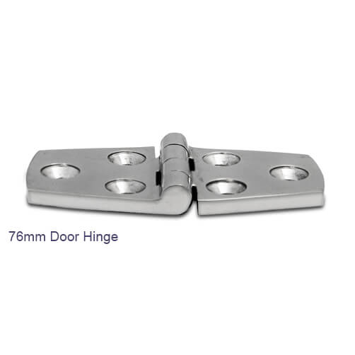 76mm Door Hinge - Stainless Steel