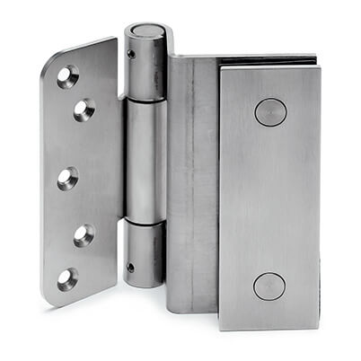 Stainless Steel Door Hinge - Glass to Wood Mounting