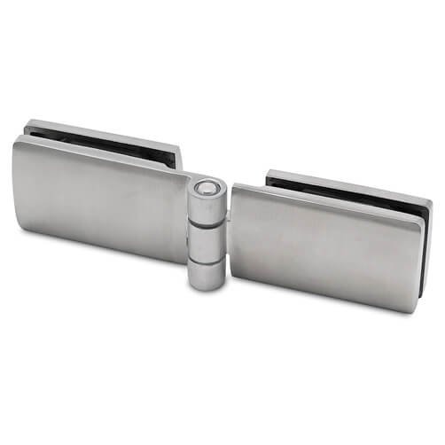 Door Hinge - Glass to Glass - Stainless Steel