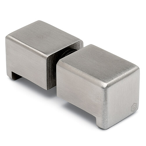 Door Knob - Square - Stainless Steel