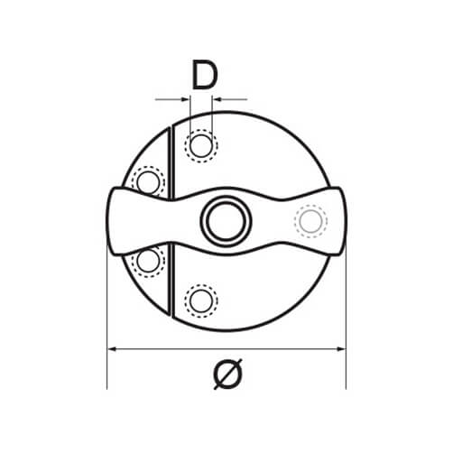 Door Closure - Latch - Dimensions