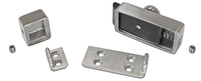 Door Latch with Spring Loaded Catch Components