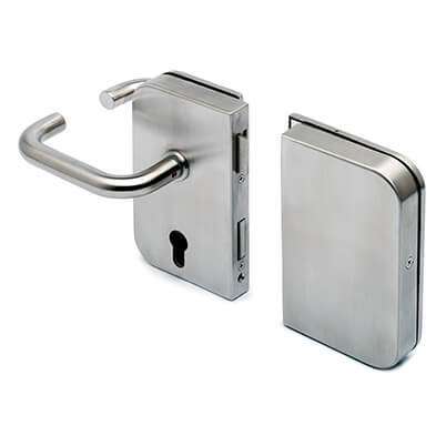 Stainless Steel Door Lock - Lever Handle with Strike Box - Left Hand Opening