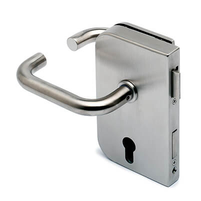 Stainless Steel Door Lock - Lever Handle - Left Hand Opening