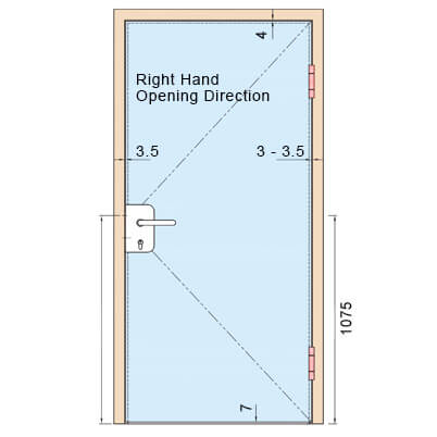 Glass Door Lock - Right Hand Opening Direction