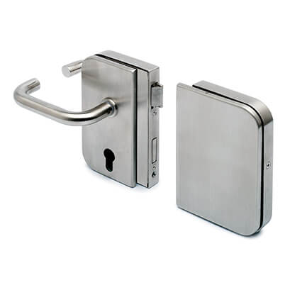 Stainless Steel Door Lock - Lever Handle with Strike Box - Right Hand Opening
