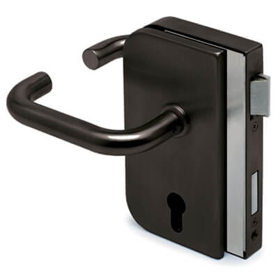 Glass Door Lock - Right Hand Opening - Anthracite Finish