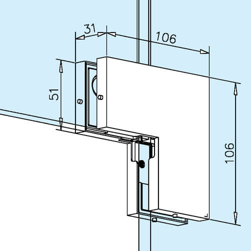 Door Patch - Corner Connection - Dimensions