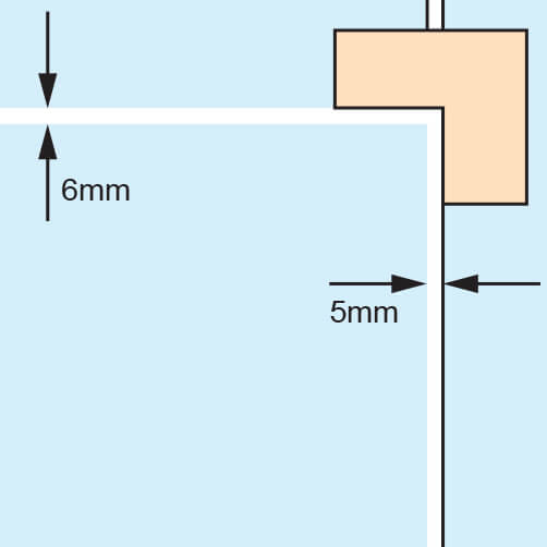 Door Patch - Corner Connection - Spacing
