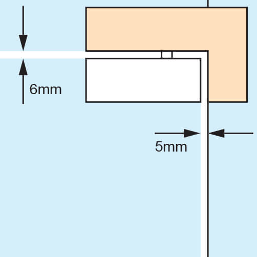 Door Patch - Over Glass Corner Pivot - Spacing