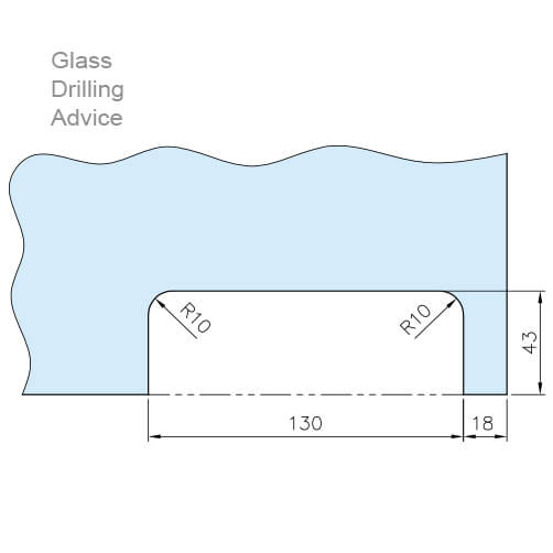 Glass Door Patch Strike Box - Cutting