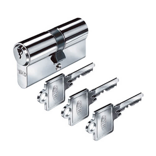 Euro Profile Double Cylinder Lock with 3 Keys