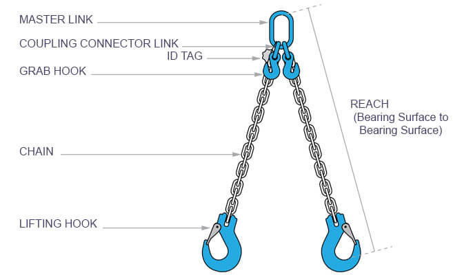2 Leg Chain Reach and Components