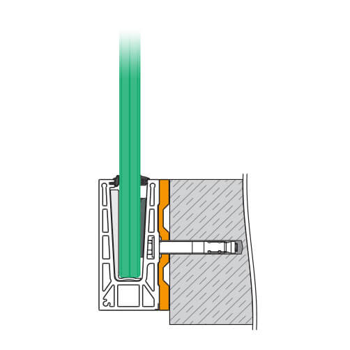 Fascia Mount Drainage Profile - Fascia Mount - Position