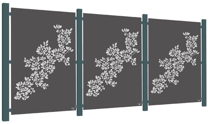 Drift Decorative Garden Screen Kit - Aluminium
