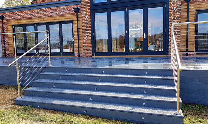 Stainless Steel Wire Balustrade on Steps
