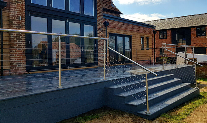 Stainless Steel Balustrade with Wire Infill
