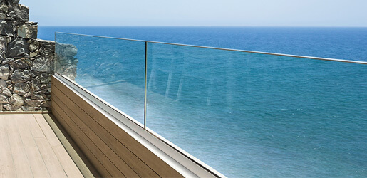 Easy Glass Up Parapet Channel Balustrade