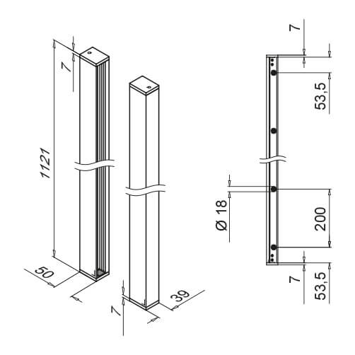 Mounting Profile Set - Dimension