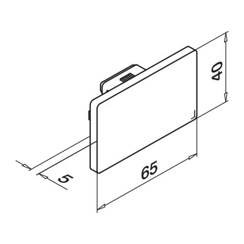 Rectangular End Cap - Dimensions