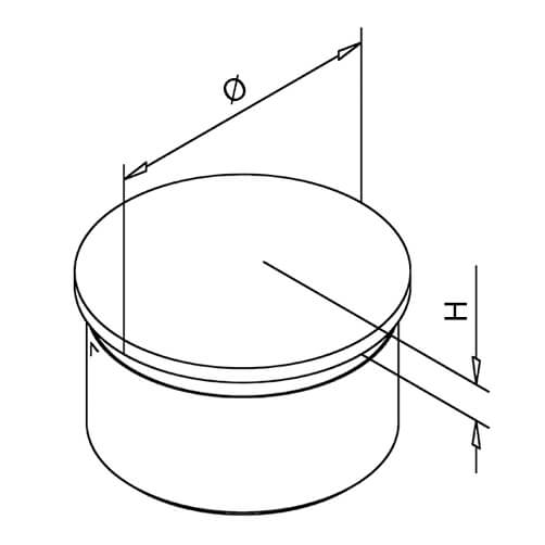 Arched End Cap - Bar Railing - Dimensions