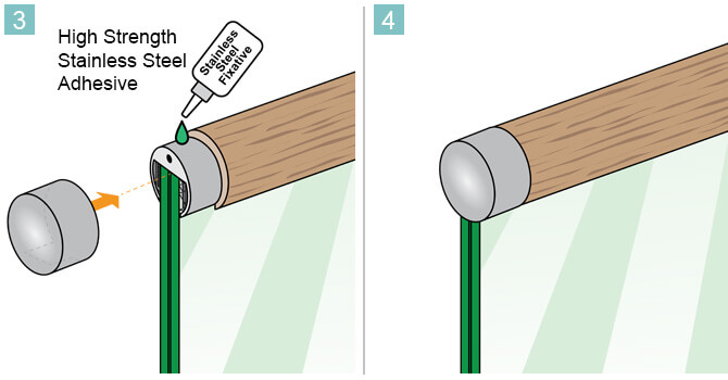 End Cap for Wooden Channel Handrail - Installation Advice