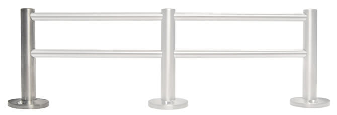 Gallery Rail Double End Post Bracket Position