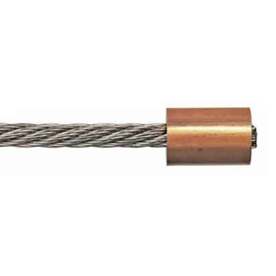 Round Copper Ferrule End Stop on Wire Rope