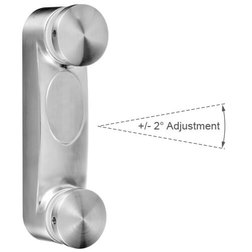 Glass Adapter - Adjustable - Stainless Steel
