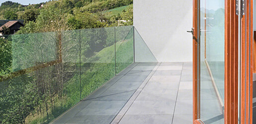 Fascia Mount Easy Glass Prime Balustrade