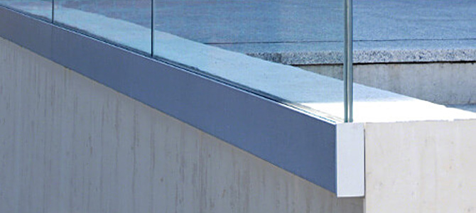 Fascia mount Glass Channel Balustrade