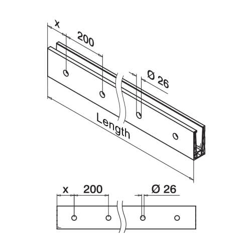 Fascia Mounting Base - Dimensions