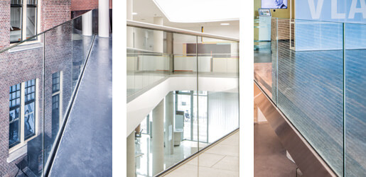 Fascia Mount Y Shapee Profiles - Frameless Pro Glass Balustrade
