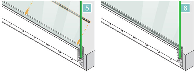 Fascia Mount - Y Shaped - Frameless Pro Glass - Balustrade Installation 5-6