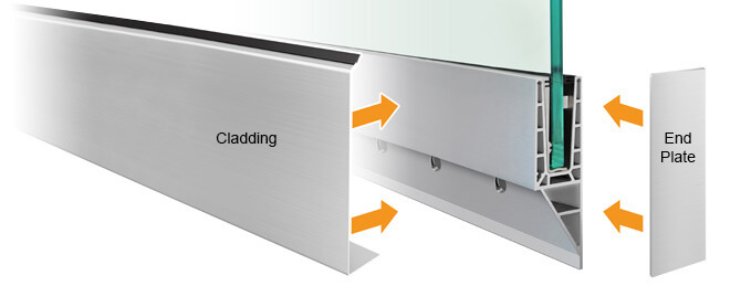 Cladding Profile - Y Shaped Frameless Pro Glass Balustrade