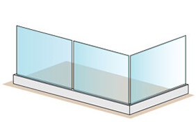 Frameless Pro Glass Balustrade - 4 + 2 Metre