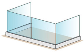 Frameless Pro Glass Balustrade - 2 + 4 + 2 Metre