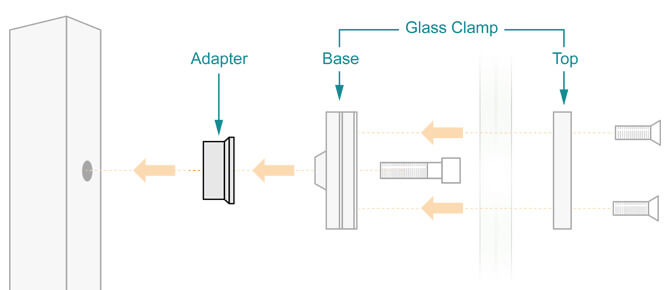Stainless Steel Glass Clamp and Adapter Installation