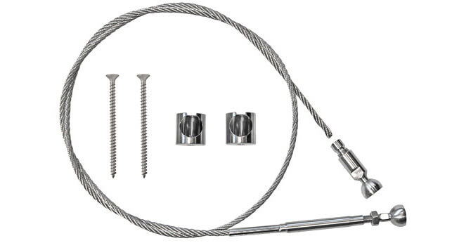 Flat Mount Wire Balustrade Kit