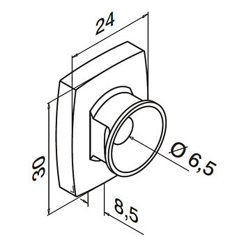 Linear Line Flat Mounting Adapter - Dimensions