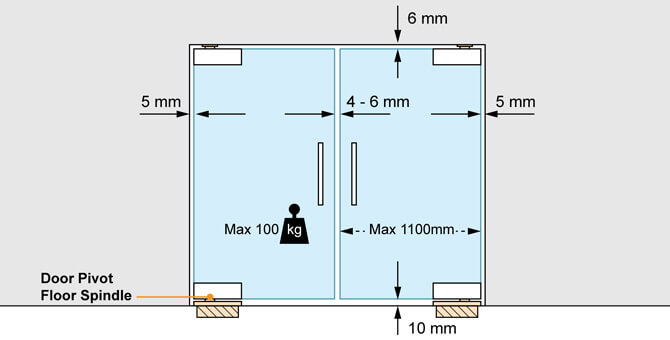 Floor Spring - Door Control Position